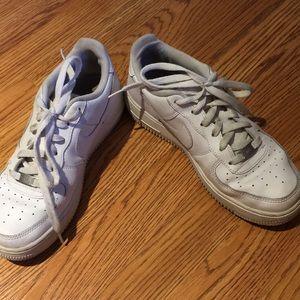 White Nike Air gym shoes